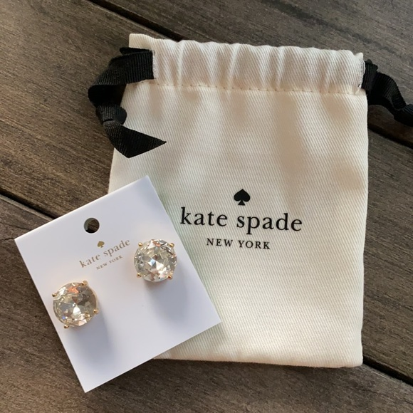 NWT Kate Spade Large Stud Clear Earrings
